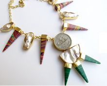 pencil shape dangle vintage necklace