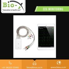 Mobile phone connected digital and portable ECG machine