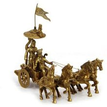 Brass Arjun Rath with four Horses