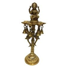 Goddess laxmi Standing lamp with Parrot