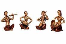 Indian Lady Music set sculpture