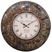 Glass Mosaic Analog Wall Clock