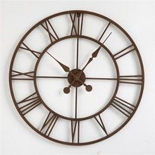 Handcrafted Iron Analog Wall Clock