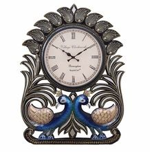 Handcrafted Peacock Analog Wall Clock