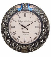 Peacock Painting Analog Wall Clock