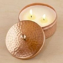 COPPER CANDLE CONTAINER