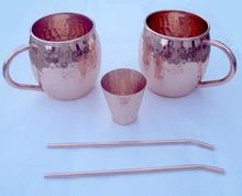 COPPER STRAWS and  SHOT CUP MUG