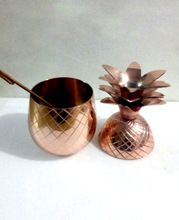 SOLID COPPER PINEAPPLE DRINKING VESSEL