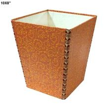 rectangle shape handmade paper dustbin