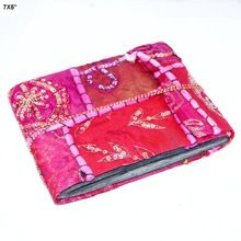 Red colour patchwork designs recycle paper
