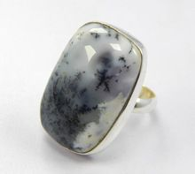 dendritic agate Free Style ring