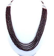 Natural Faceted Red Garnet Round Beads