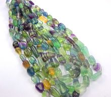 Natural watermelon Fluorite Tumble Beads