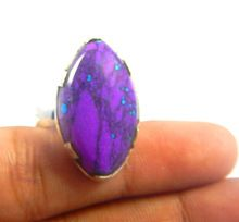 Naturan purple turquoise silver ring