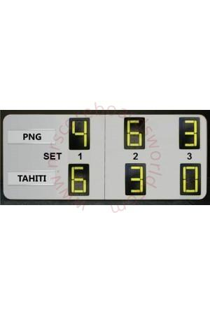 6 Digits Tennis Self Supporting Scoreboard