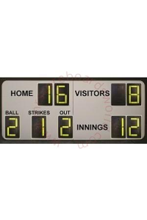 9 Digit Baseball Self Supporting Scoreboard