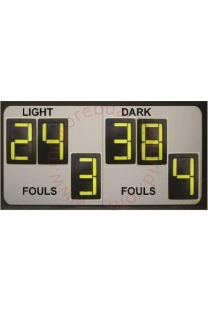 6 Digit Netball Self Supporting Scoreboard
