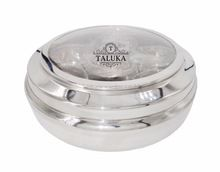 glass lid stainless steel canister