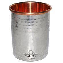 Hammered Stainless Steel Water Glass