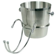 steel ice bucket holder