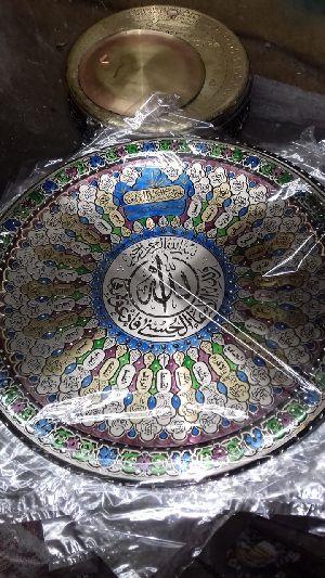 Handmade Copper Craft Islamic Plat 05