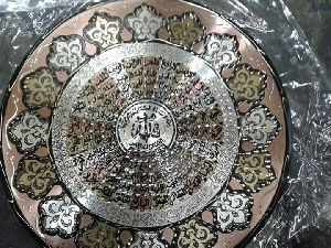 Handmade Copper Craft Islamic Plat 06