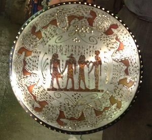 Handmade Copper Craft Pharaonic Plate 03