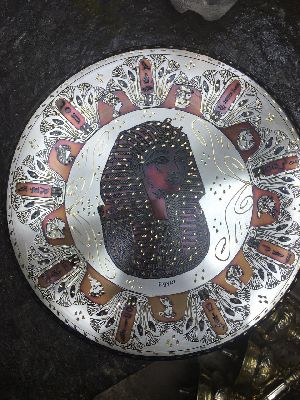 Handmade Copper Craft Pharaonic Plate 05