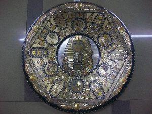 Handmade Copper Craft Pharaonic Plate 06