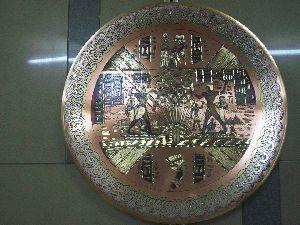 Handmade Copper Craft Pharaonic Plate 10