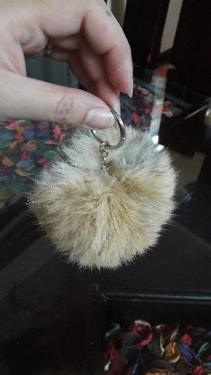 Rabbit Fur Keychain 01