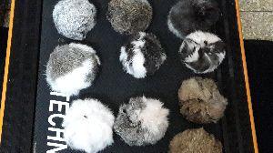 Rabbit Fur Pom Poms 04