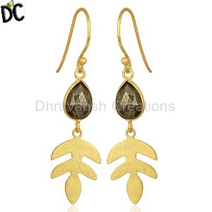 Natural Pyrite Gemstone Earring