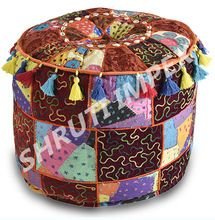 Foot Stool Ottoman Pouf Cover