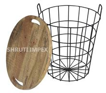 Industrial Iron Basket Coffee Table
