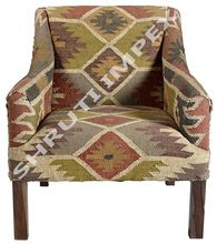 Jute Upholstery Indian Sofa Arm Chair