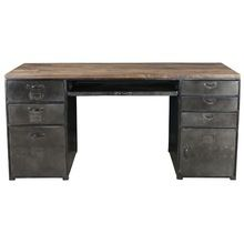Metal Office Table with Storage Drawer