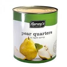 Canned Pear Quarters Syrup