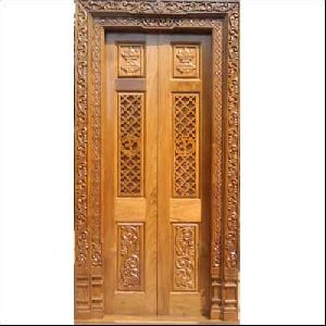 Wooden Main Door 12