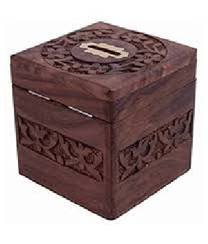 Wooden Money Bank 02