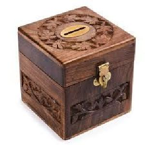 Wooden Money Bank 06