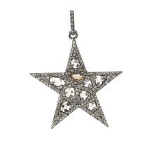 Diamond Silver Star Pendant