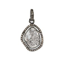 Diamond Slice Silver Pendant