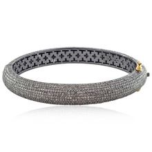 Diamonds Silver Bangle