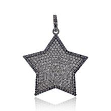 Pave Diamond Sterling Silver Pendant