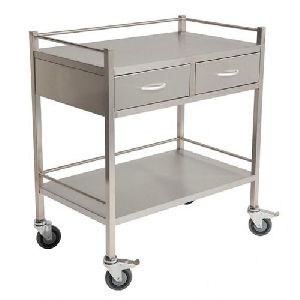 Stainless Steel Double Decker Trolley
