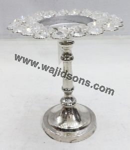 Crystal Beaded Pillar Candles Holder