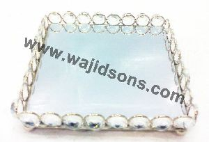 Crystal square tray