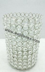 decoration votive crystal candle holder