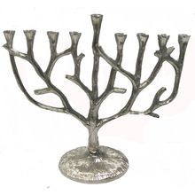 Tree Design Hanukkah Menorah candle holder